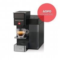 Francis Francis Y5 espresso & coffee black με Δώρο 42 κάψουλες