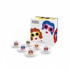 Σέτ Δώρου Olimpia Zagnoli 6 espresso cups